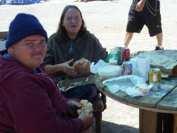 Camp Residents Enjoying Good Food