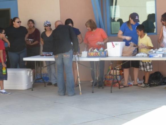 Breakfast Burritos and juice from Landmark Church!