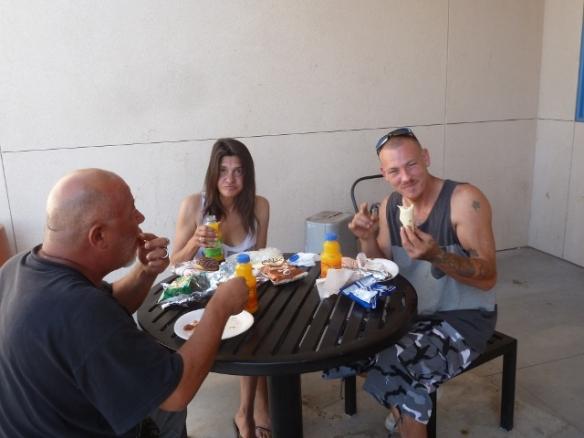 Residents enjoying breakfast!