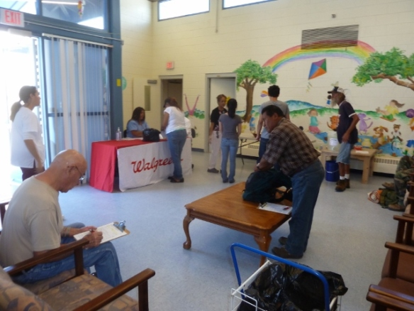 Lots of folks came out to get flu shots!