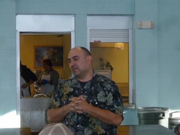 Pastor George Greets the Homeless at El Caldito Soup Kitchen