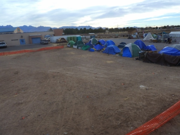 The Northern expansion plotted, tent pads measured, and fenced in temporarily.