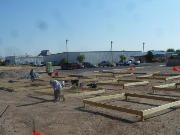 boxes being constructed
