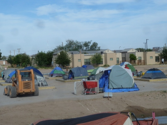 Campers settling in on their new pad sites